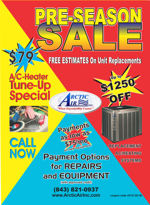 Air conditioner and Heater specials, low monthly payments