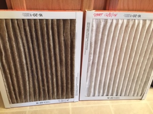 AC - clean filter versus a dirty one